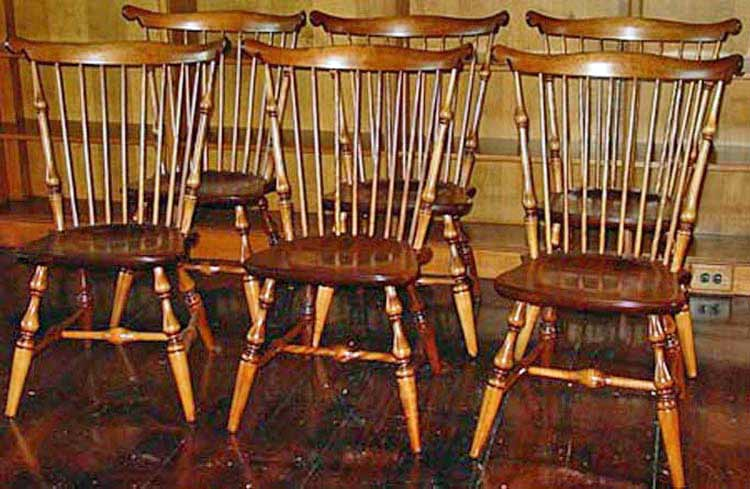 6 Windsor chairs after restoration