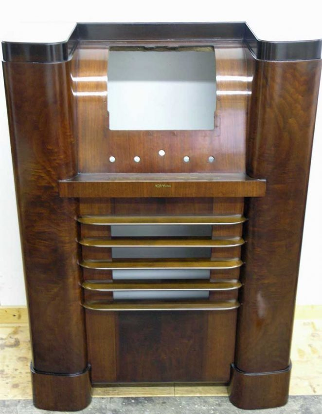 RCA Victor radio cabinet after restoration