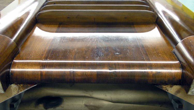 Veneer repaired on radio cabinet base