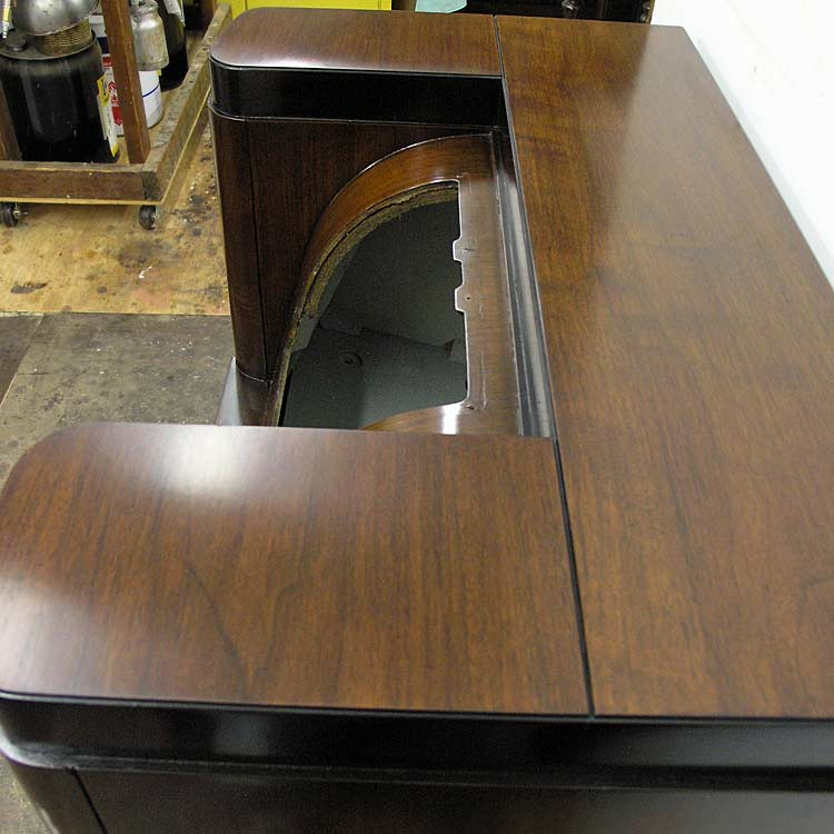 Refinished radio cabinet top