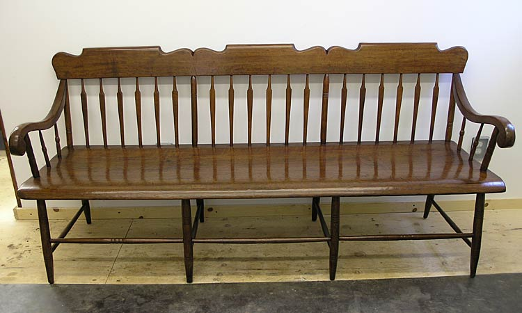 Arrowback bench after refinishing