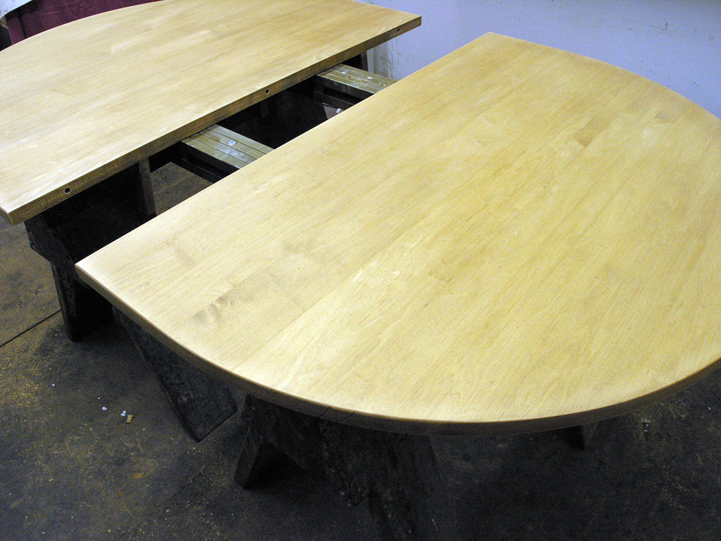 Maple table top stripped and sanded