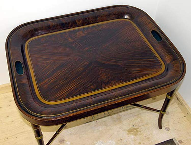 Tray after restoration