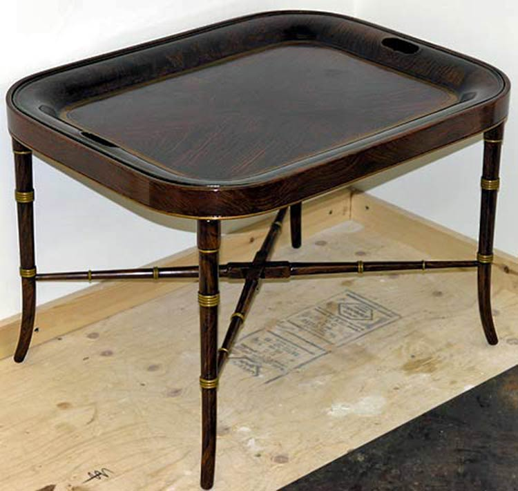 Antique tray table after restoration