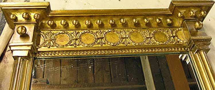 Gilt mirror restoration