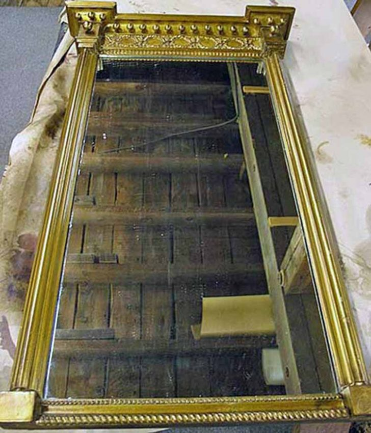 Gilt mirror after restoration