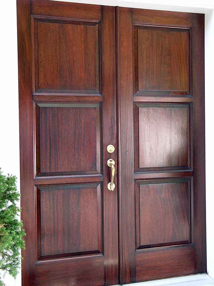 Refinished mahogany front door