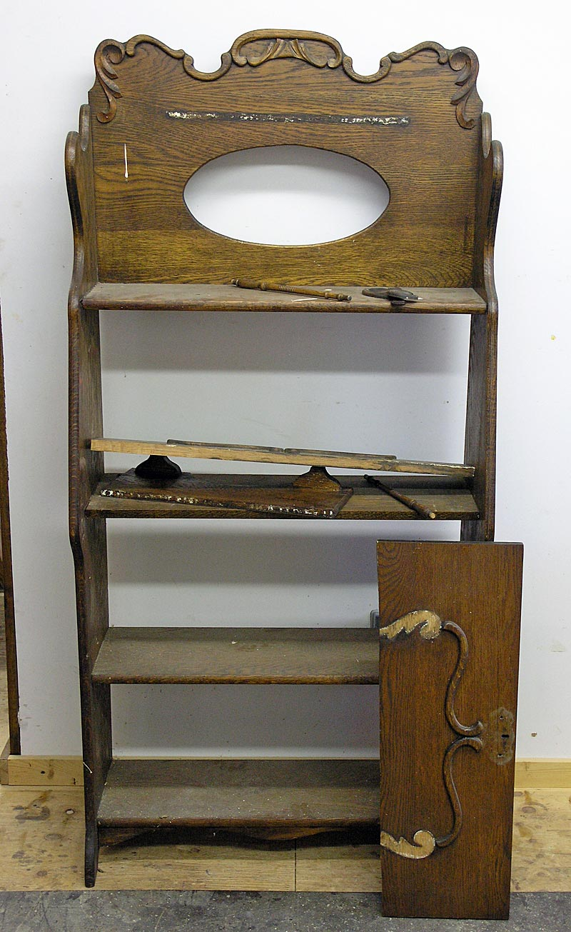 Larkin desk before restoration