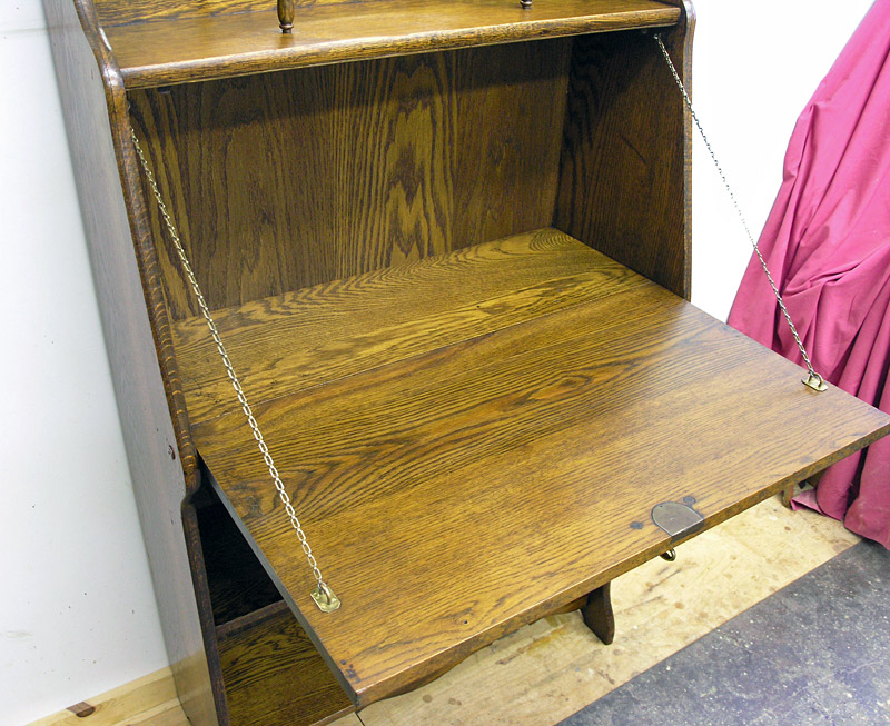 Larkin desk with drop-lid open