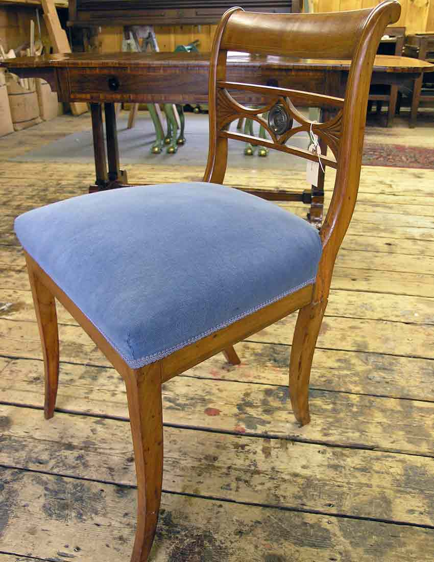 Biedermeier chair before repair