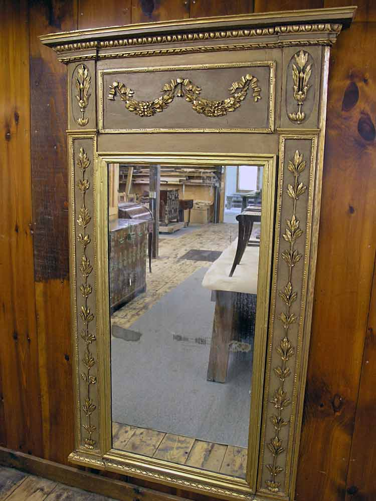 Trumeau mirror after restoration