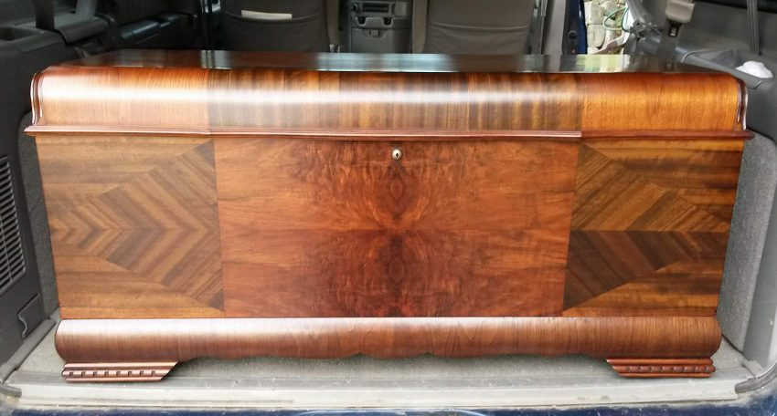 Lane cedar chest repaired and refinished