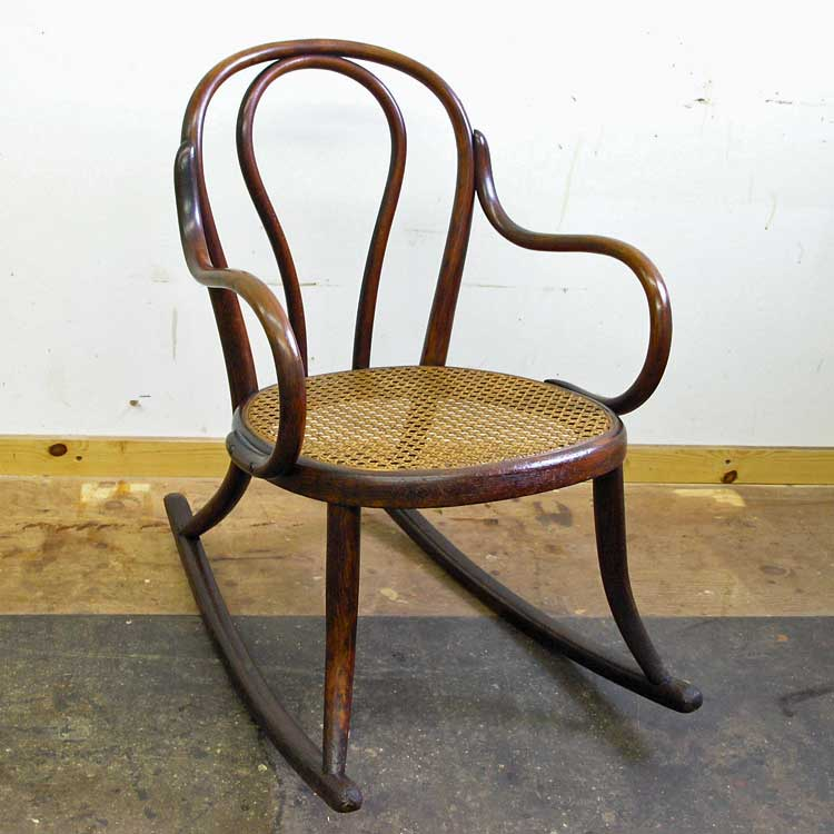 Child's bentwood rocker after restoration