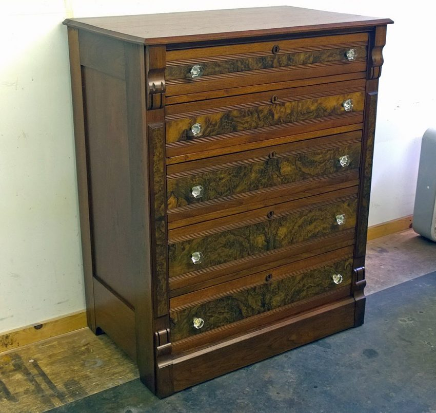 Victorian Dresser after repair and refinishing