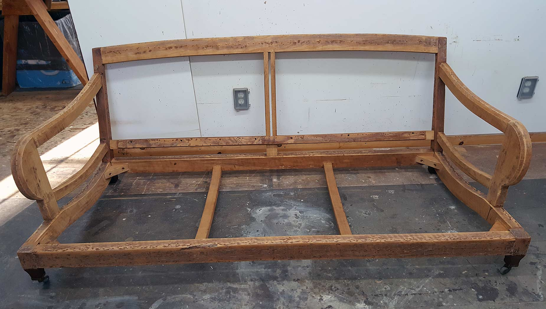 Sofa Frame After Repair