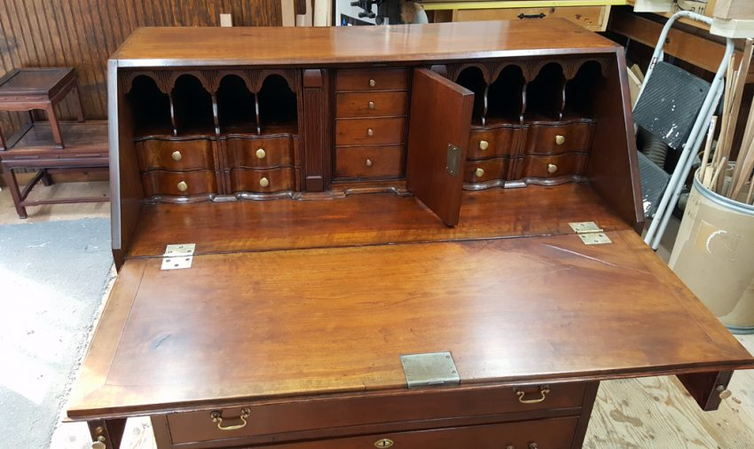 Restored Desk with lid and door open