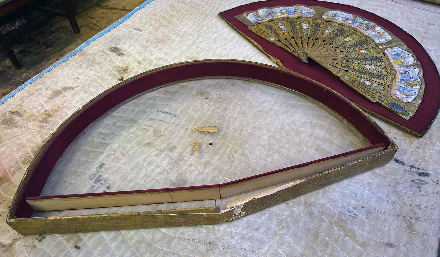 Broken gilt frame