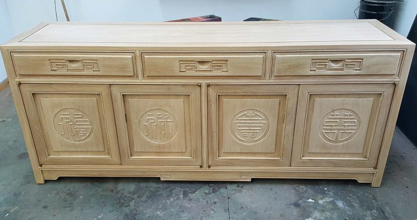 Refinished oriental sideboard