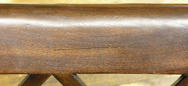 Scratched finish on chair