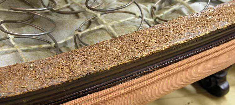Dried sawdust and glue